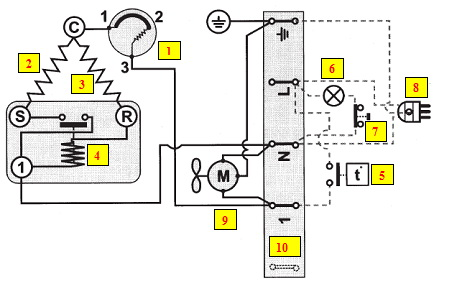 принципиальная схема датчика температуры