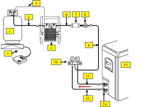 Сбор хладагента в газообразном и/или жидком состоянии